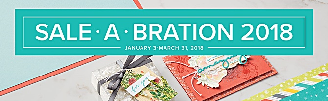 Sale-a-brations 2018 Stampin' Up! Earn Free stamps