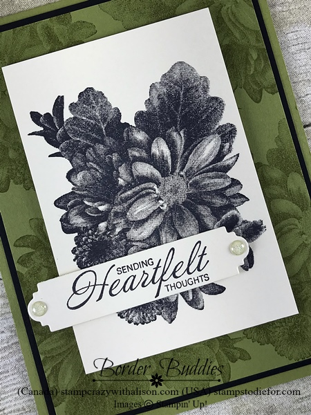 Border Buddy PDF Tutorial Heartfelt Blooms stamp set by Stampin' Up! www.stampstodiefor.com #stampinup #occasionscatalog #petalpalette  9