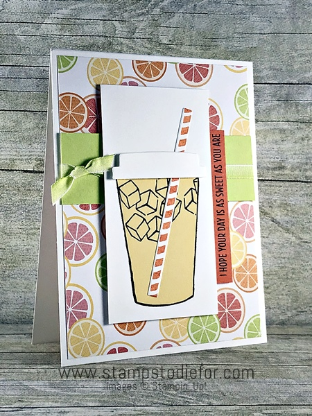 Lemonade Coffee Cafe stamp set by Stampin' Up! www.stampstodiefor.com #coffeecafe #stampinup 2