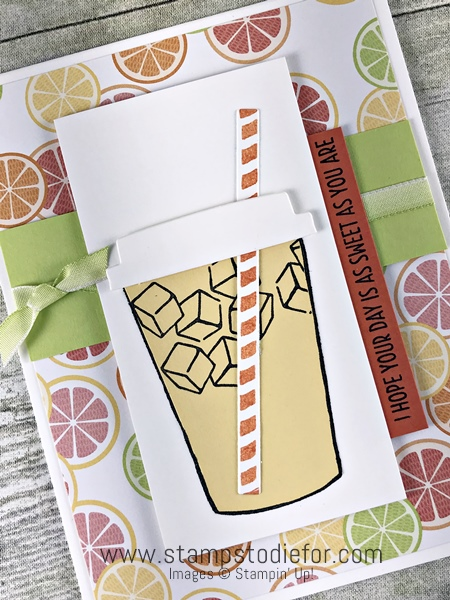 Lemonade Coffee Cafe stamp set by Stampin' Up! www.stampstodiefor.com #coffeecafe #stampinup