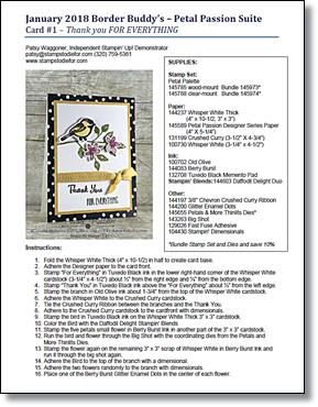 January Border Buddy PDF Tutorial