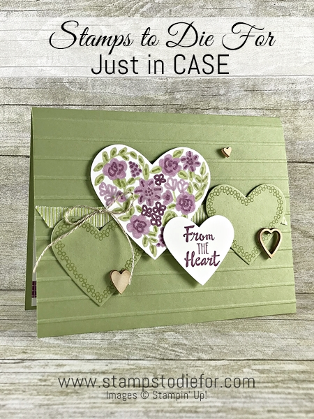 CASE handmade card using the Heart Happiness stamp set by Stampin Up