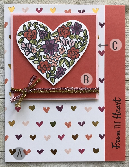 Hand made Valentine card using Heart Happiness stamp set by Stampin Up 33