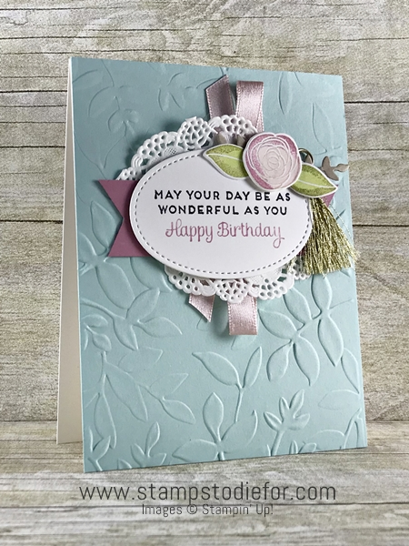 Hand made birthday card using the Cake Soiree stamp set by Stampin Up