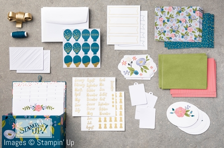 Contents of the Perennial Birthday Project Kit  by Stampin' Up!