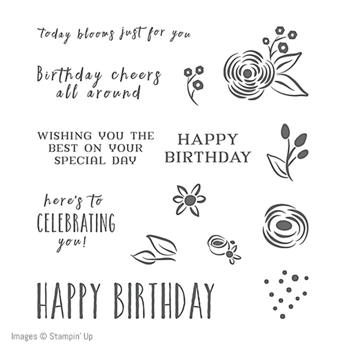 Perennial Birthday Stamp Set by Stampin' Up! coordinates with the Perennial Birthday project kit