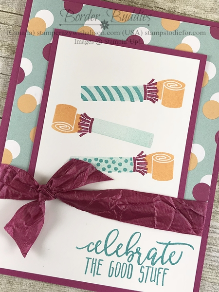 Border Buddy handmade birthday card using the Picture Perfect Birthday stamp set from Stampin Up Celebrate the Good Stuff