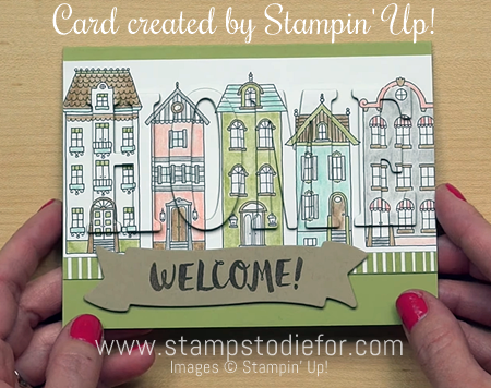 Welcome Home stamp set and Large Letter Framelits Dies