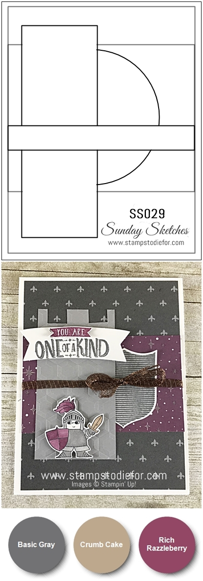 SS029 Hand Stamped birthday card using the Magical Day stamp set by Stampin' Up!