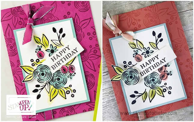 Handstamped Birthday Card using the Perennial Birthday stamp set by Stampin Up (2)