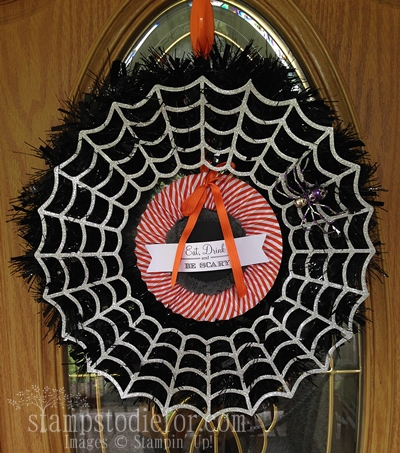 Frightful Wreath Stampin up