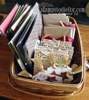Basket of stamping goodies