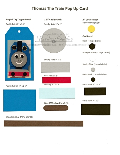 Thomas the Train Punch Chart