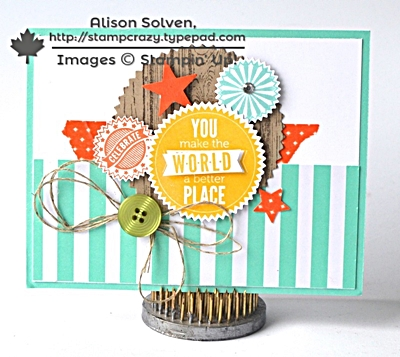 Alison starburst sayings stamp set