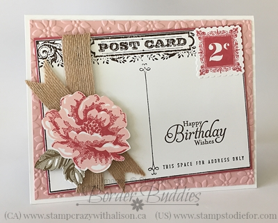 Stampin' Up! Postage Due & Stipple Blossom