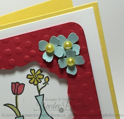 Itty Bitty Accents Punched Flowers www.stampstodiefor.com