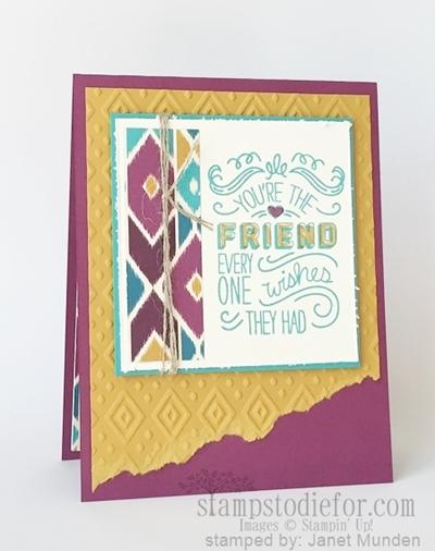 Friendly wishes stamp set