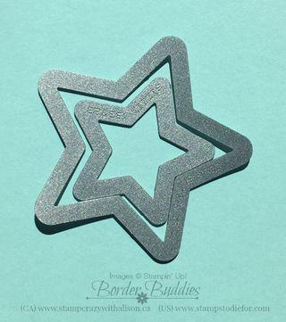 Star framelits tip #stampinup #starframelits