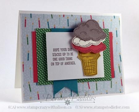December Border Buddies Card Sketch BB004 #stampinup #BB004