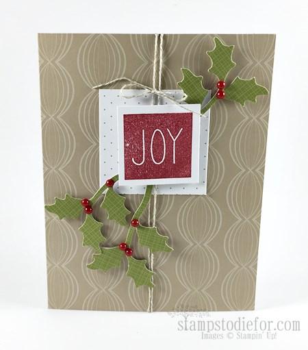 November Paper Pumpkin Christmas Card www.stampstodiefor.com #stampinup #paperpumpkin #christmascard