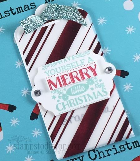 Home for Christmas Paper Christmas Tags www.stampstodiefor.com #stampinup #Santa #christmastags 2