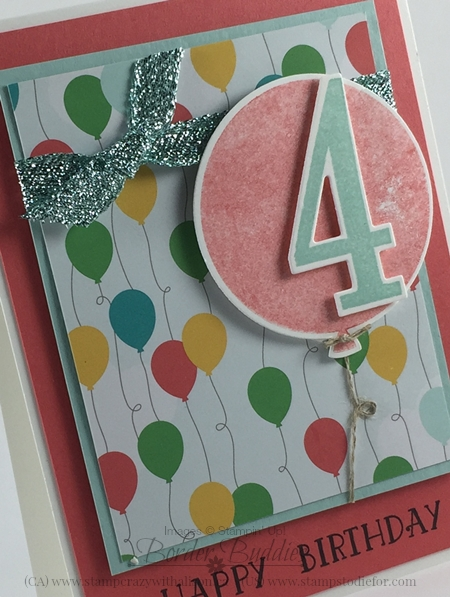 Number of Years Stamp Set Occasions Catalog www.stampinup.com #stampinup #brithdaycard 3