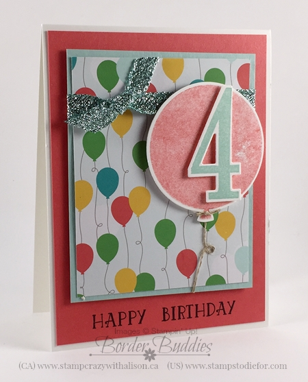 Number of Years Birthday Card Occasions Catalog #stampinup www.stampstodiefor.com 10