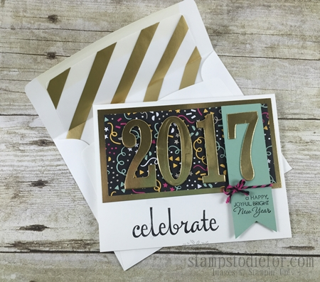 Number of Years Happy New Years Card 2016 Occassions Stampin' Up! Catalog www.stampstodiefor.com #stampinup #numberofyears #newyearscard 2