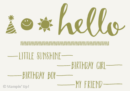 Limited Time Hello Sale-a-bration Stamp Set