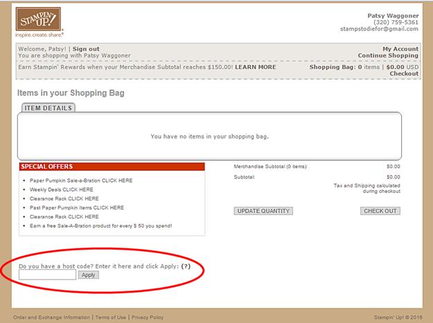 Order Online Stampin Up 7