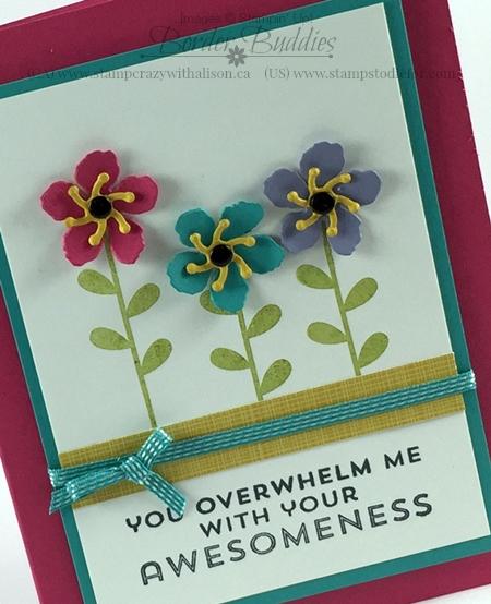 Botanical Builder Framelits, Botanical Blooms stamp set and Flower Patch Stamp Set www.stampstodiefor.com