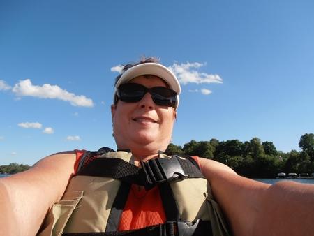 Patsy Waggoner selfie in the kayak