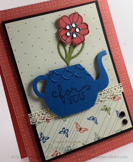 Cups and Kettle & Rose Garden Framelits Dies #stampinup www.stampstodiefor.com 2