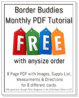 Border Buddies Free Stamping Tutorial #cardtutorial