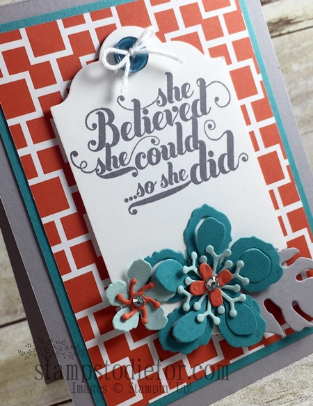 Color Your World International Blog Hop, Botanical Builder Framelits #stampinup www.stampstodiefor.com tag