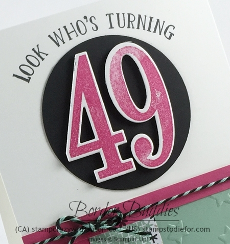 Number of Years Stamp Set Occasions Catalog www.stampinup.com #stampinup #brithdaycard 6-15-2016