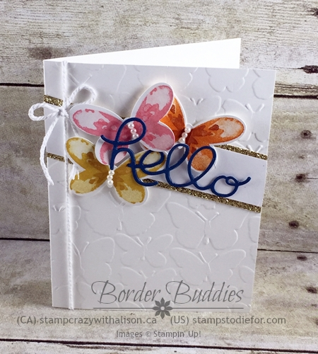 Watercolor Wings Stamp Set and Butterfly Folder #stampinup www.stampstodiefor.com