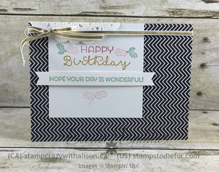 Just in CASE Cottage Greetings Stamp Set Happy Birthday Card #justincase #stampinup #stampstodiefor www.stampstodiefor.com