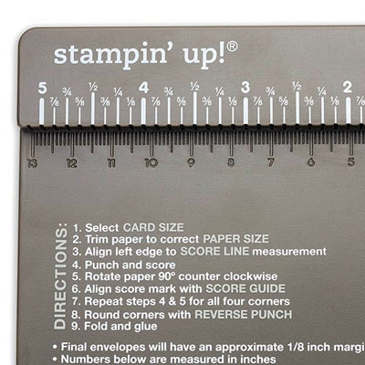 Envelope Punch Board Instructions
