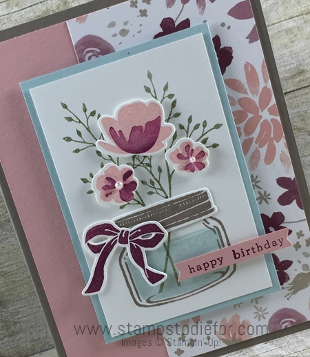 Jar of Love Stamp Set & Blooms and Bliss Designer Series Paper by Stampin' Up! www.stampstodiefor.com 2