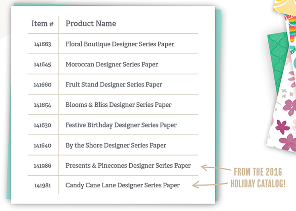 Buy one get on free Designer series paper special DSP