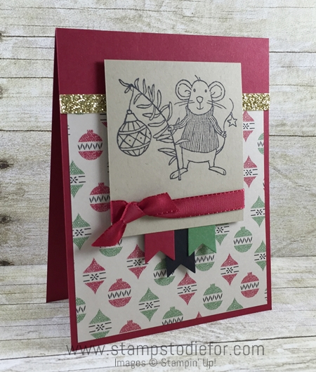 Sunday Sketches SS007 Stampin Up Merry Mice Stamp Set Christmas Card - no coloring -3 www.stampstodiefor.com