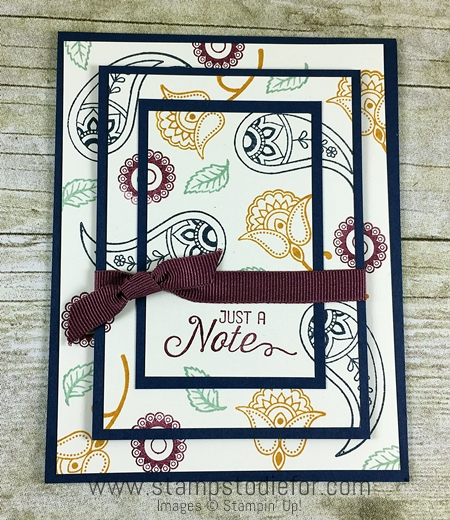 Triple Time stamping technique using Paisleys & Posies stamp set by Stampin' Up! www.stampstodiefor.com