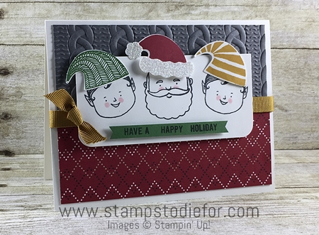 Hand Stamped Christmas Card using Jolly Friends Stamp Set by Stampin' Up!