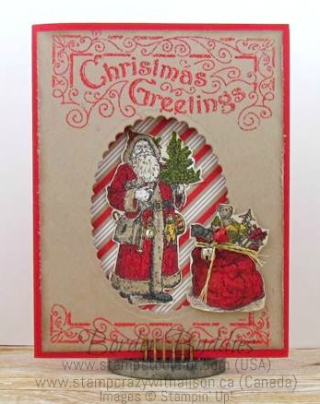 Father Christmas www.stampcrazywithalison.ca