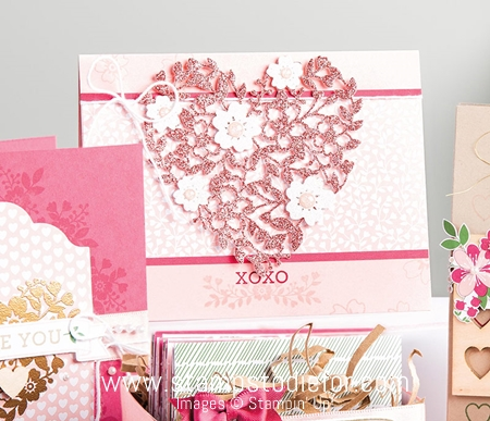Bloomin' Hearts thinlits dies by stampin up