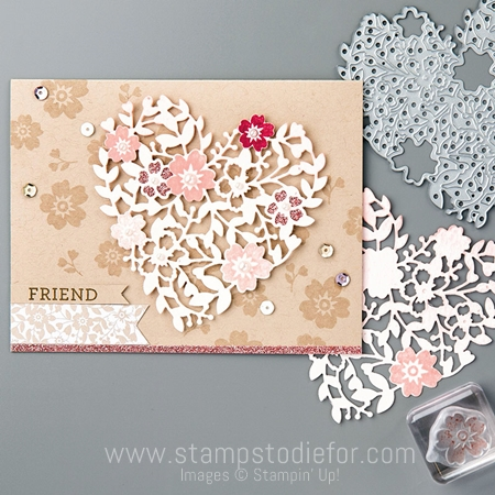 Bloomin' Hearts thinlits dies by stampin up 2
