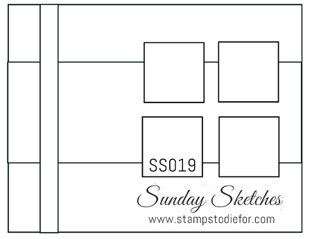 Sunday Sketches SS019 by Stamps to Die For