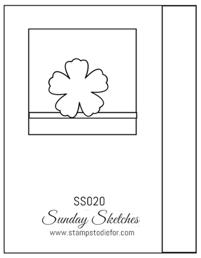 Sunday Sketches SS020 by Stamps to Die For
