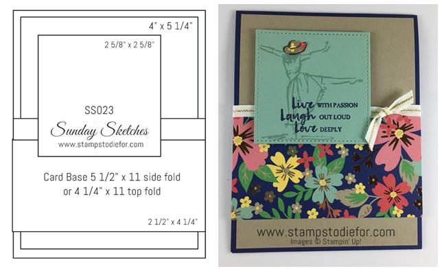 Sunday Sketches Card Sketch www.stampstodiefor-horz